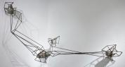 Mark Baugh-Sasaki: Strange Attractors IV, 2012, steel, granite