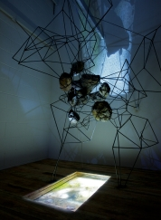Mark Baugh-Sasaki: detail of Comfort of the Familiar, 2013, video and sculpture installation