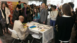 Tim Roseborough performs at ASC booth, SCOPE NY 2014