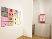 Installation view of Tim Roseborough's The Rebus Names Project at ASC Projects, 2014